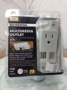 HUBBELL RESIDENTIAL JLOAD MULTIMEDIA OUTLET WHITE Tamper resistant