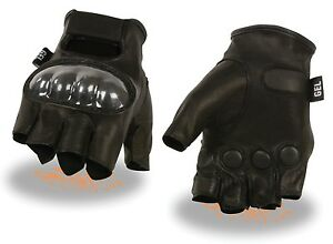 Men-039-s-Fingerless-Glove-w-Hard-Knuckle-amp-Gel-Palm-Knock-Out-Glove-One-Punch