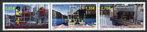 FSAT-TAAF-2019-MNH-Lake-Sediment-Coring-Barge-3v-Strip-Geology-Boats-Stamps