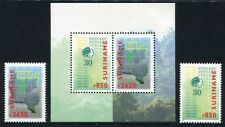 SURINAM 1999 Schutz des Regenwaldes Landkarte 1703-1704 + Block 76 ** MNH