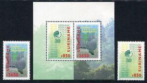 Stamps Block 76 ** Mnh Topical Stamps Methodical Surinam 1999 Schutz Des Regenwaldes Landkarte 1703-1704