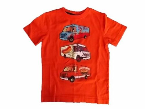 NWT Boy/'s Gymboree Hop n/' Roll Food Truck orange short sleeve shirt ~ 4