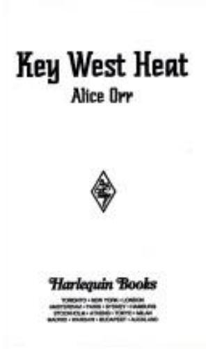 Key West Heat Mass Market Paperbound Alice Orr