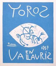 """PICASSO mounted Mourlot lithograph, 1959, Affiches Originales 14 x 11"""" AO83"""