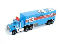 Autoworld Petty Racing Rigs R6 Peterbilt 359 W/trailer Ho Scale Slot Car Fit Afx