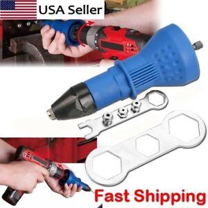 Professional-Electric-Rivet-Nut-Gun-Adaptor-Insert-Cordless-Power-Drill-Tool-Kit