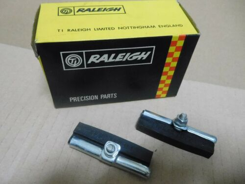 Raleigh Bicycle Rod Brake Pads pair w//Chrome Holders Long 62mm  NOS