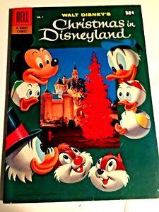 Walt Disney's Christmas in Disneyland #1 1957 a Dell Giant VF 1 tiny corner crea