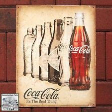 HOT DOG COCA COLA Coke Retro Vintage Tin Sign Man Cave Garage Cafe Food S-1048