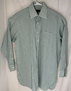 Robert-Talbots-men-039-s-size-16-33-plaid-long-sleeve-button-down-shirt