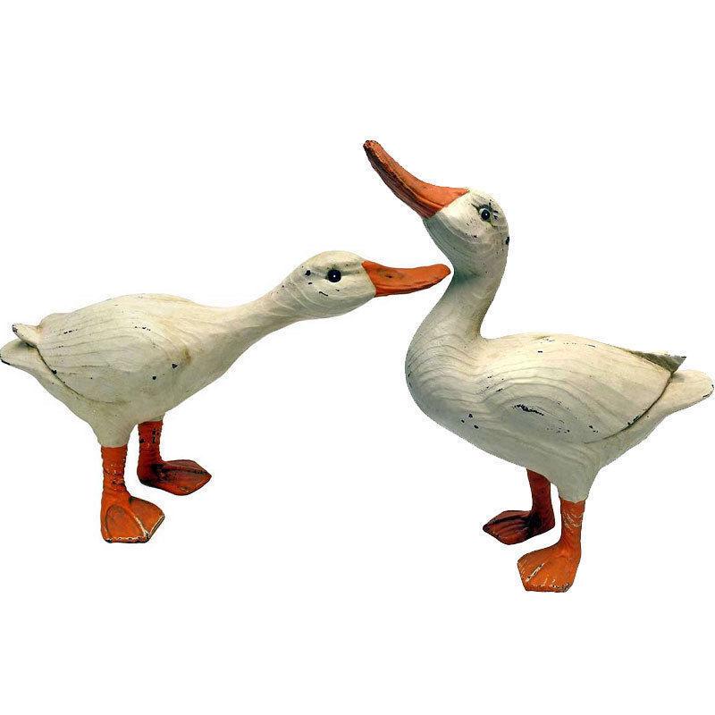 Design toscano Set 2 estatuas de Pato rústico Jardín de Esculturas Adornos Oferta