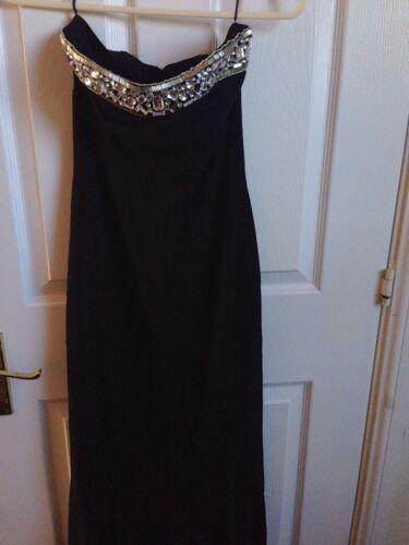 Uk Small Mango Size Black Fishtail Dress Maxi qw6xFH4