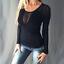 Damen-Langarm-T-shirt-Mesh-Raglanaermel-Oberteil-Sexy-Blusen-Perspektive-Tunika
