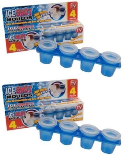 8 x ice shot moule plateau verre verres gel pour fête boissons ou barbecue