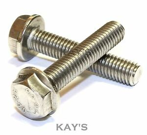 m5 m6 m8 m10 flanged hexagon head bolts flange hex screws a2 stainless steel ebay. Black Bedroom Furniture Sets. Home Design Ideas
