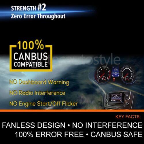 VW T5 T5.1 FANLESS H7 LED HEADLIGHT BULBS KIT CANBUS ERROR FREE PLUG /& PLAY