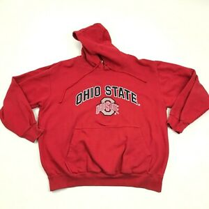 VINTAGE OHIO STATE Buckeyes Hoodie Throwback Sweater Sewn On Script Youth L