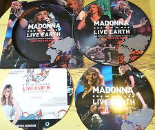 "MADONNA LIVE EARTH CONCERT FOR CLIMATE  CRISIS LONDON 2007 LP 12"" PICTURE DISC"