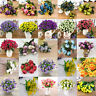 1 Bouquet 21 Head Artifical Plastic Rose Wedding Office Home Decor Silk Flower