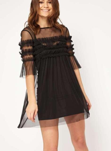 Miss Selfridge Size 8 Petite Mesh Overlay Dress.  SA076 GG 12