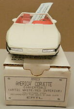 1992 ARTIC WHITE AMERICAN CONV CHEVY CORVETTE CUP DEALER AMT PROMO PROMOTIONAL