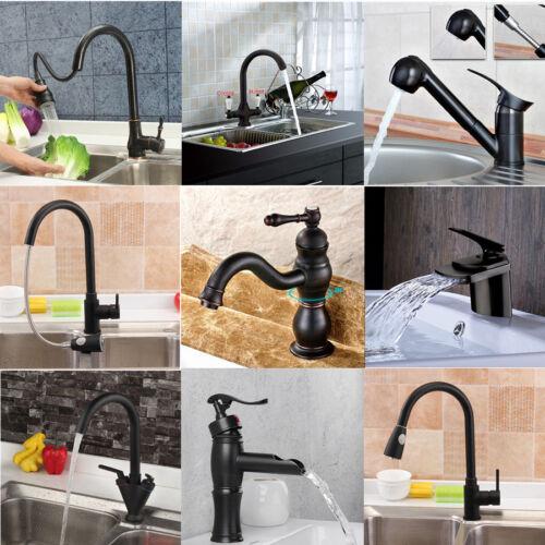 Bathroom//Kitchen Sink Vessel Faucet Oil Rubbed Bronze Waterfall Basin Mixer Tap