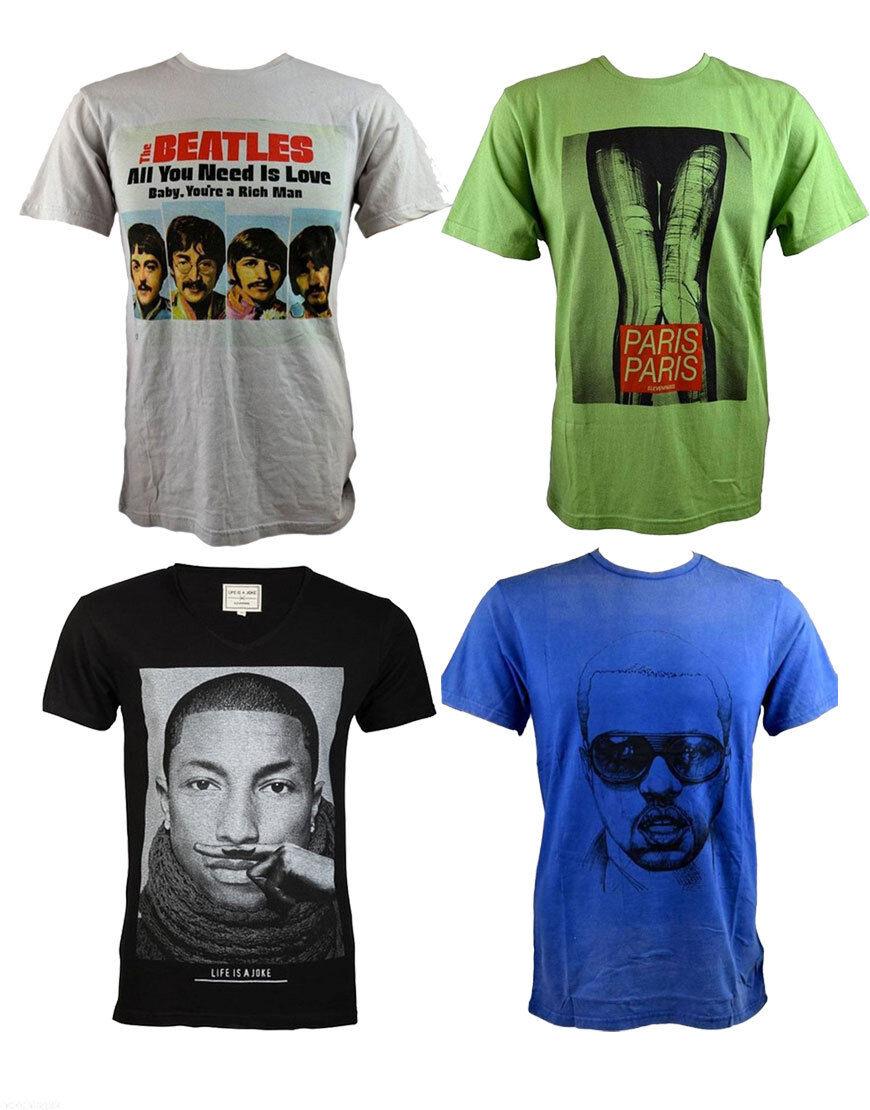 Eleven Paris Detailed graphic to front T-Shirts 100% cotton