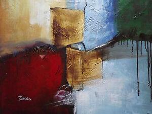 Grande Peinture Huile sur Toile Abstrait