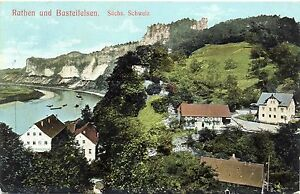 Rathen und Basteifelsen, 1908 - Brachttal, Deutschland - Rathen und Basteifelsen, 1908 - Brachttal, Deutschland