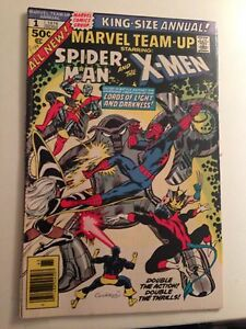 Marvel Team-Up Annual #1 (1976, Marvel)/Early Wolverine X-Over/FN