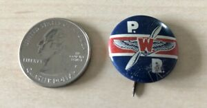 WWII-P-W-R-Homefront-Pratt-and-Whitney-Aviation-Engines-Pinback-Button-35099