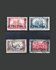 VINTAGE:MOROCCO-GERMAN 1905 USD BHLH,LHR,MHR,ADH SCOT #20-32 $490 LOT#1905Y