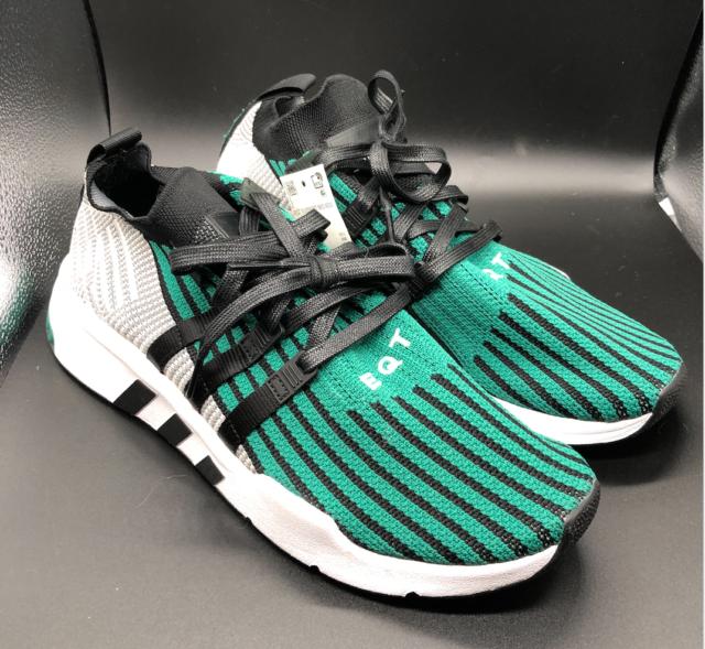 Size 11 - adidas EQT Support ADV Mid Primeknit Black Sub Green 2018