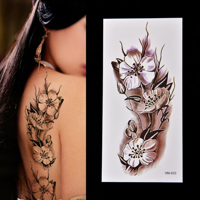 Fashion Removable Waterproof Temporary Tattoo Plum Blossom Body Tattoo Sticker T