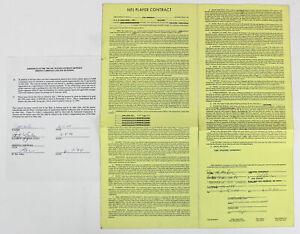 Cardinals Jim McMahon Signed 1994 NFL Player Contract w/ Envelope JSA #Z76382