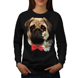 26a8082e Image is loading Wellcoda-Pug-Puppy-Admirer-Womens-Sweatshirt-Date-Casual-