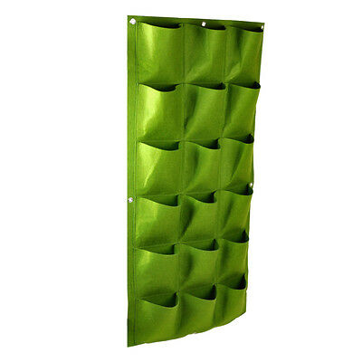 HOT 18 Pocket Vertical Greening Hang Wall Garden Seedling Plant Grow Bag Planter