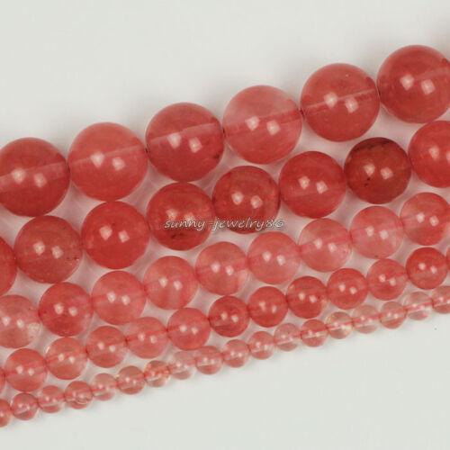 "Natural Cherry Quartz Stone Gemstone Round Loose Beads 15.5/"" 4 6 8 10 12mm SL44"