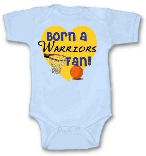 Born a Warriors Basketball Fan Baby Bodysuit Choose Size Color Adorable Gift