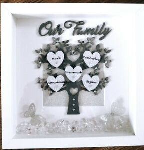 PERSONALISED-FAMILY-TREE-Gift-3D-Box-Frame-Birthday-Wedding-Anniversary