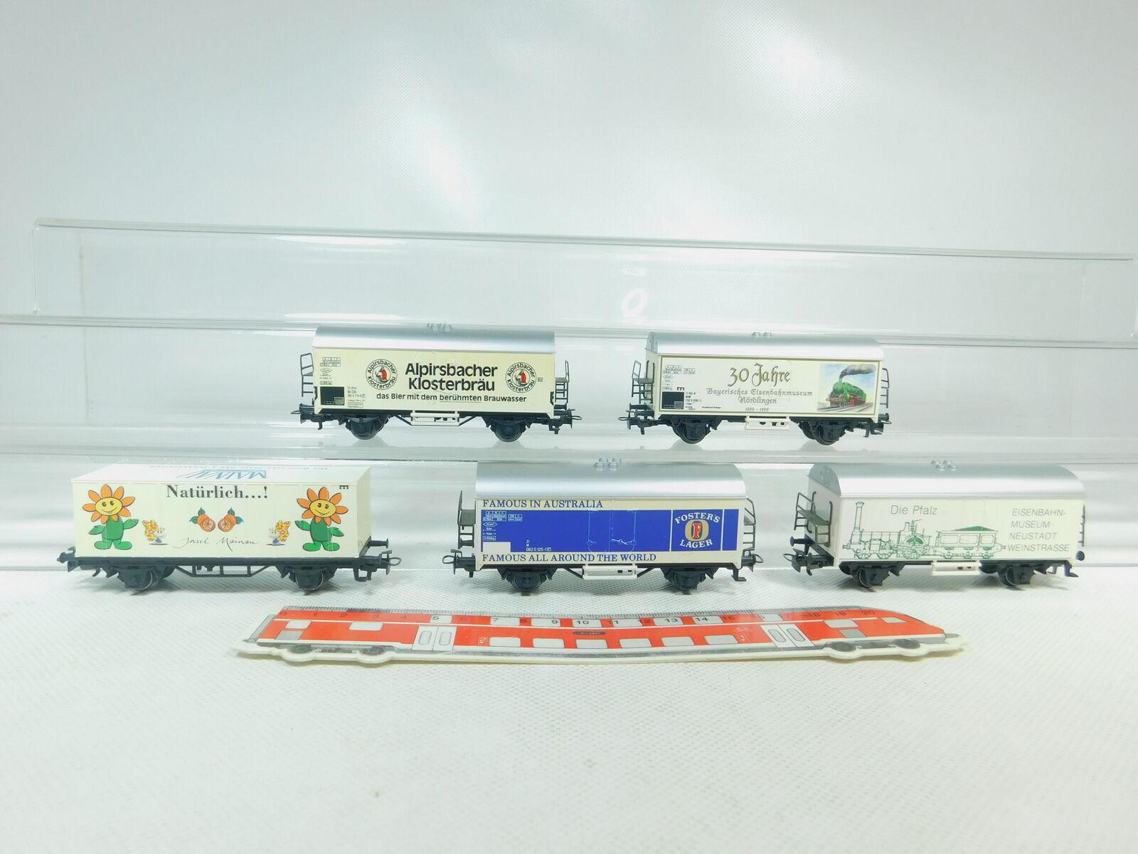 Bm487-1x Märklin h0 ac freight wagons  ALPIRSBACHER + Foster's + Mainau etc