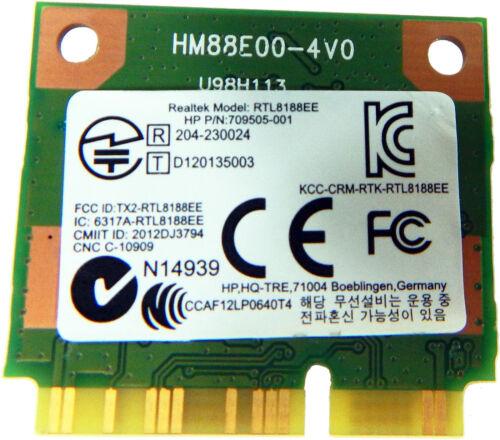 HP Realtek RTL8188EE 802.11 bgn 1x1 WiFi Wireless Card New 709848-001 709505-001