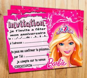 Cartes Invitation Anniversaire Princesse Par 6 Ou 12 Ebay
