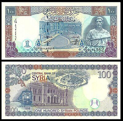 SYRIA 100 LIRA 1998 P-108 LOT X5 UNC NOTES *//*