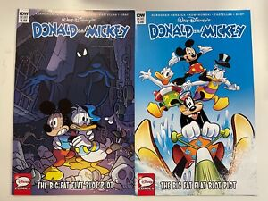 IDW DONALD & MICKEY #1 : BOTH COVERS BUNDLE : A + B : NM CONDITION