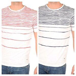 GUESS-Herren-T-Shirt-Regular-mit-Streifenmuster-M-3XL-neue-Kollektion