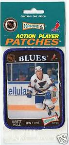 1992-BRETT-HULL-ST-LOUIS-BLUES-HOF-NHL-HOCKEY-PATCH