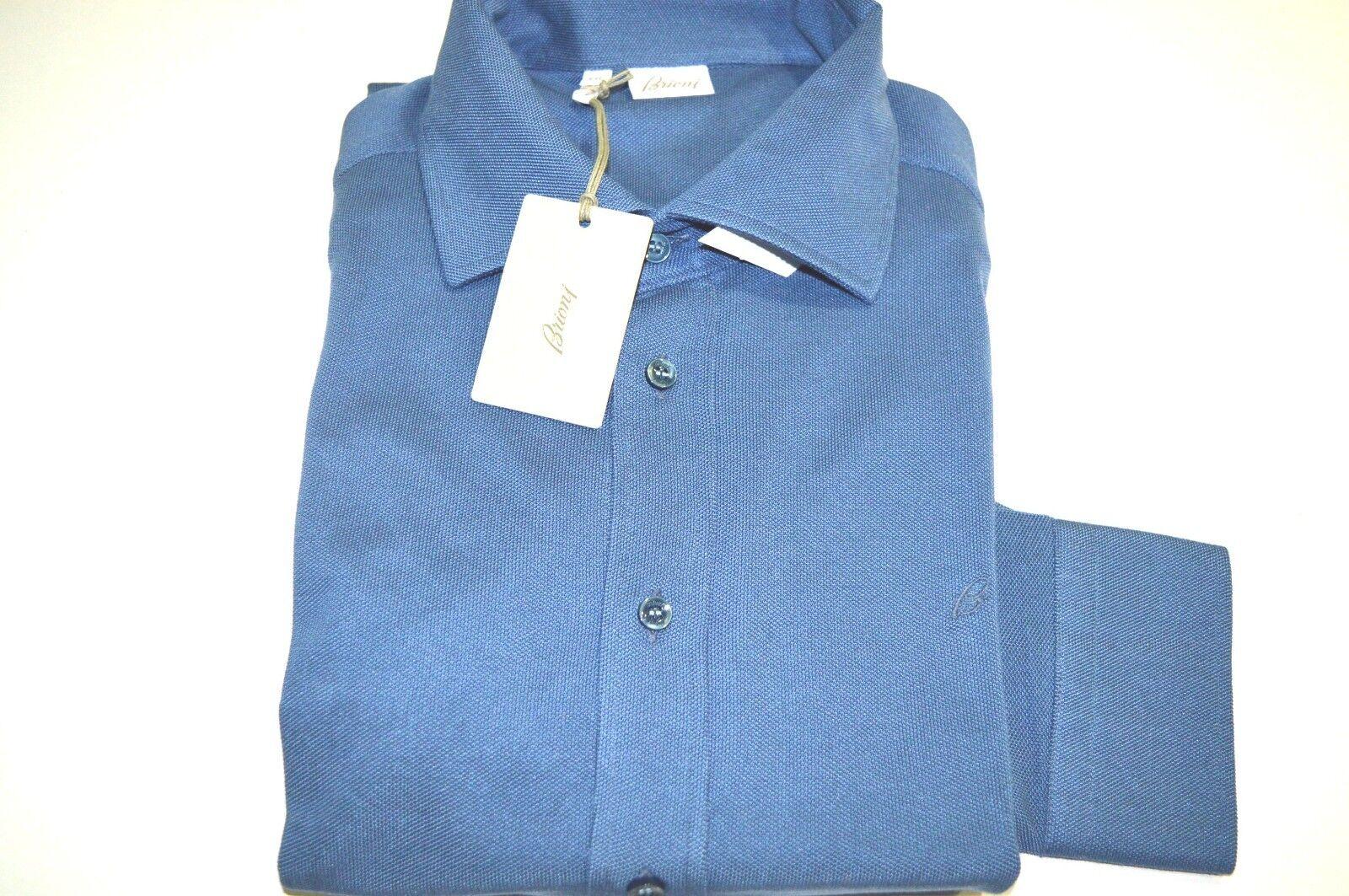 NEW BRIONI  Polo 100% baumwolle  Long sleeve  Größe 2XL Us 56 Eu (SSG3)
