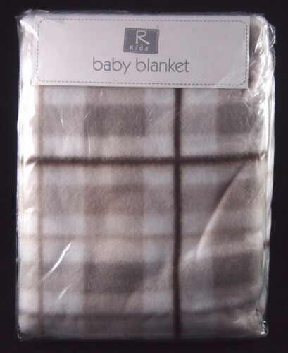 2 Baby buggy pram cot fleece blanket Union Jack Checked Elli /& Raff 100x150cm