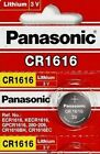 CR 1616 PANASONIC LITHIUM BATTERIES (2 piece) 3V Watch New Authorized Seller